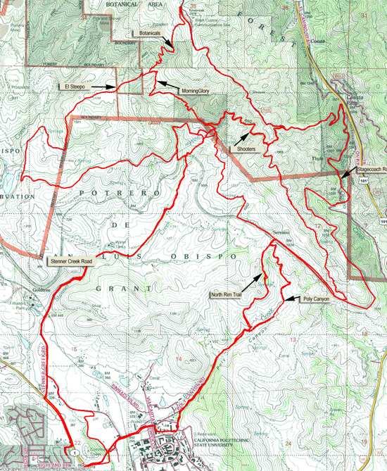 Cuesta Map